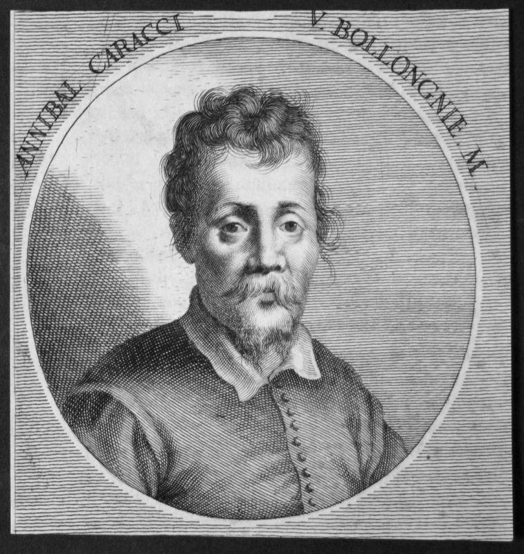 Annibal Caracci V. Bollongnie - Annibale Carracci Italien Italia Maler painter Kupferstecher copper engraver K