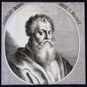 Giorgio Vasari - Giorgio Vasari Italien Italia Maler painter Architekt architect Kupferstich etching Portrait