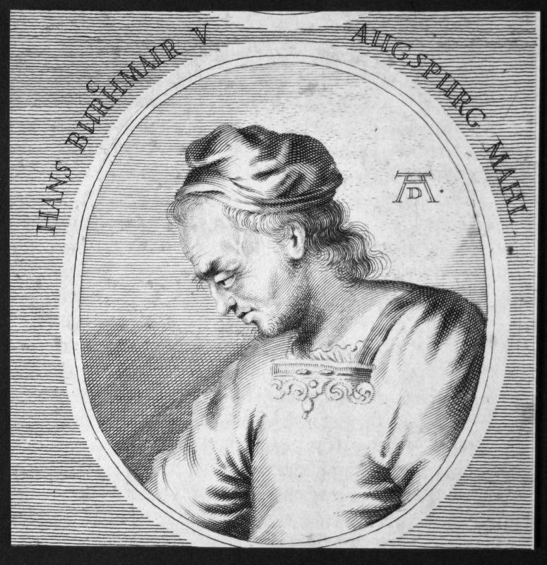 Hans Burchmair v. Augspurg - Hans Burgkmair Ausgburg Maler painter Kupferstich etching Portrait