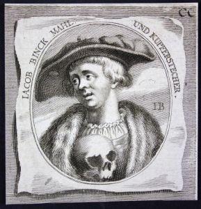 Iacob Binck - Jakob Binck Kupferstecher copper engraver Maler painter Kupferstich etching Portrait