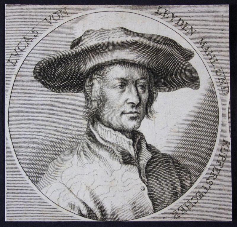 Lucas von Leyden - Lucas van Leyden copper engraver Kupferstecher Maler painter Kupferstich etching Portrait