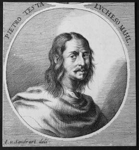 Pietro Testa Lucheso - Pietro Testa Lucchesino Italien Italia Maler painter Kupferstich etching Portrait