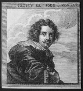 Petrus de Iode von Ant. - Pieter Jode Kupferstecher copper engraver Verleger publisher Kupferstich etching Por