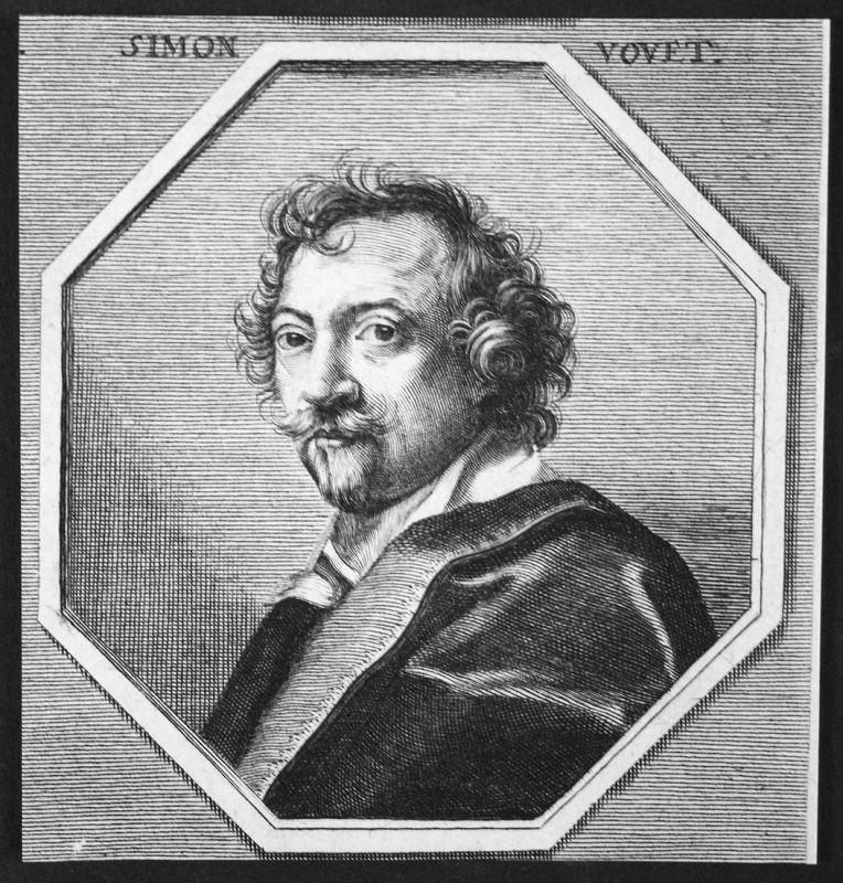 Simon Vouet - Simon Vouet Frankreich France Maler painter Kupferstich etching Portrait