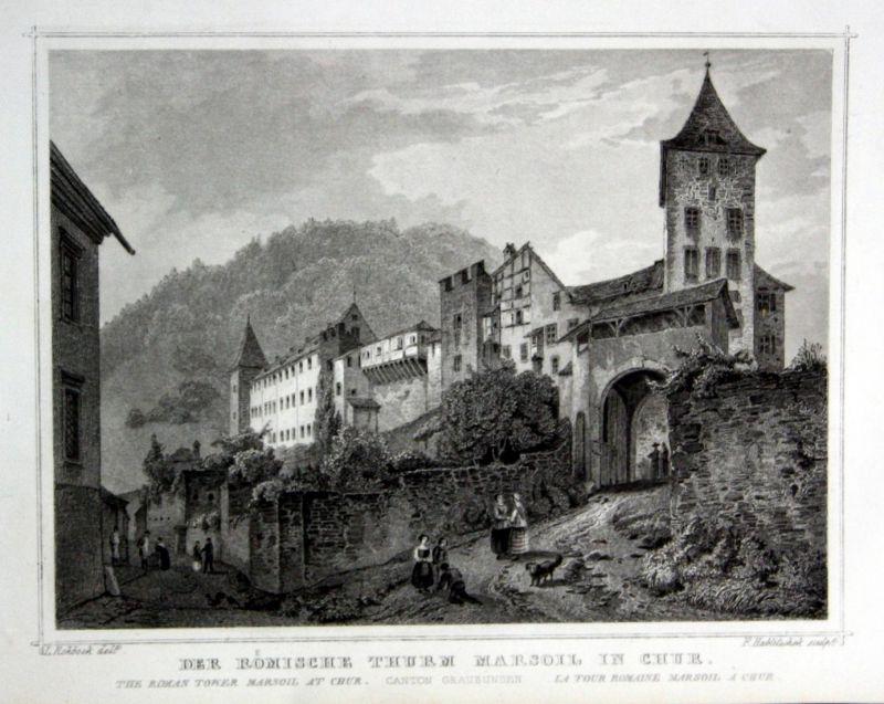 Der römische Thurm Marsoil in Chur - Chur Schweiz