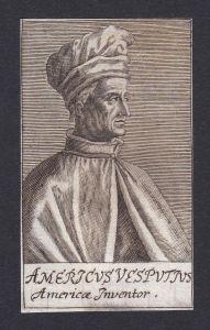 Americus Vesputius / Amergio Vespucci / explorer financier navigator cartographer Firenze