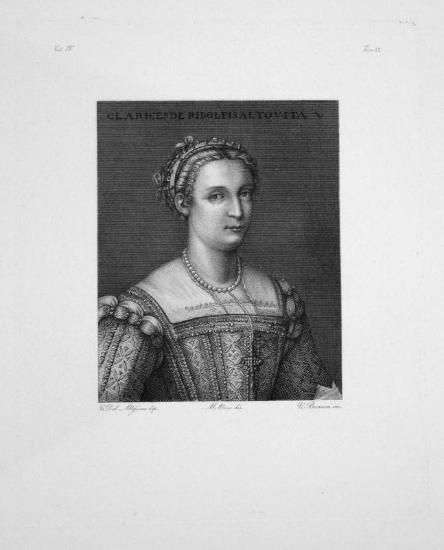 Portrait von Clarice Ridolfi-Altoviti - Frau jung woman young Portrait Kleid dress portrait