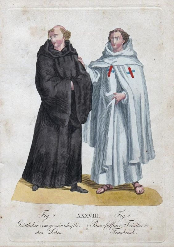 Geistlicher vom gemeinschaftlichen Leben / Baarfüssiger Trinitar in Frankreich