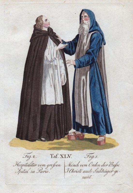 Hospitaliter vom grossen Spital zu Paris / Mönch vom Orden der Busse J. Christi auch Sackträger genant