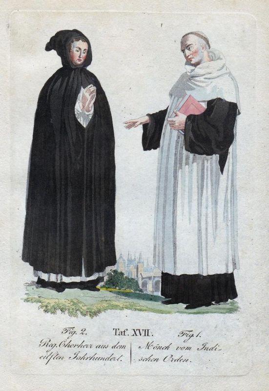Reg. Chorherr aus den elften Jahrhundert / Mönch vom Indischen Orden