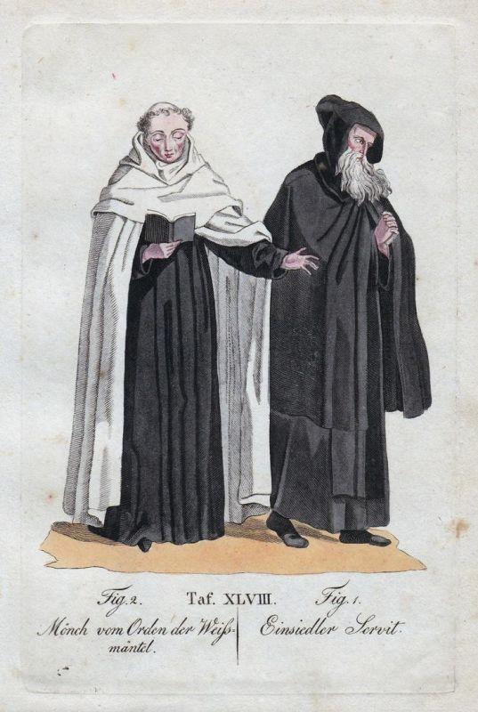 Mönch vom Orden der Weissmäntel / Einsiedler Servit
