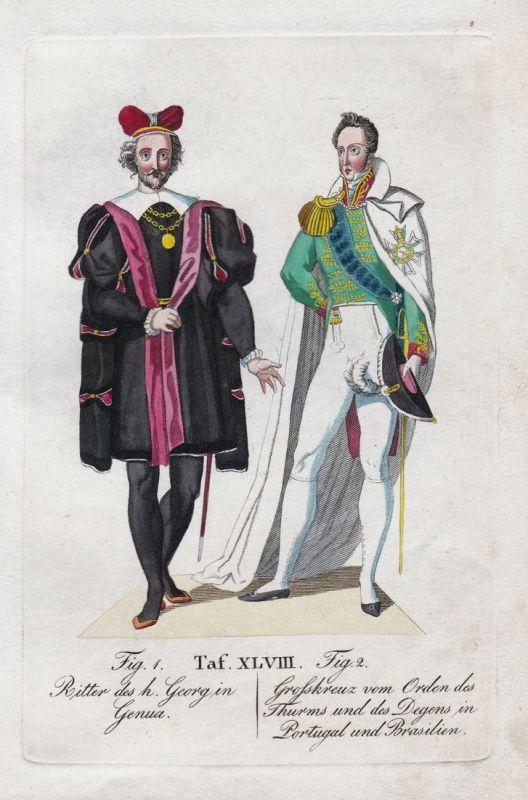 Ritter des h. Georg in Genua / Grosskreuz vom Orden des Thurms und des Degens in Portugal und Brasilien