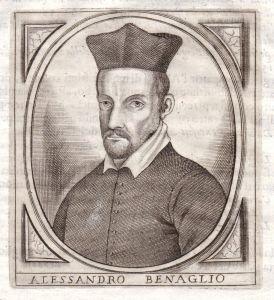 Alessandro Benaglio - Alessandro Benaglio Portrait Bergamo incisione Kupferstich antique print