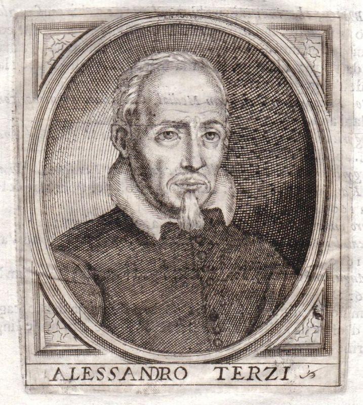 Alessandro Terzi - Alessandro Terzi Portrait Bergamo incisione Kupferstich antique print