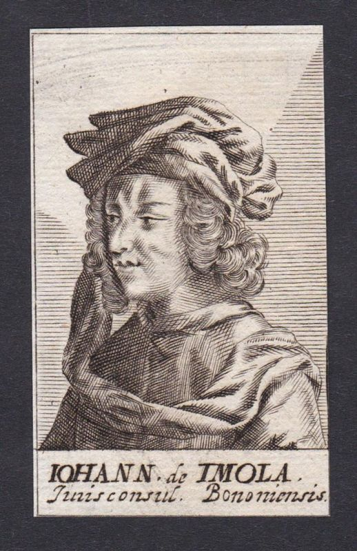Iohann de Imola / Johannes de Imola / jurist Pavia Bologna