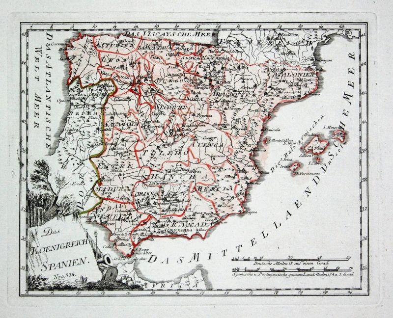 Das Koenigreich Spanien - Spanien Spain Portugal Madrid Granada map ...