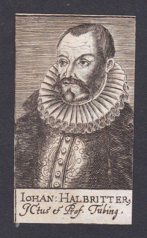 Iohan Halbritter / Johann Halbritter / lawyer Jurist Tübingen