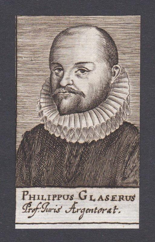 Philippus Glaserus / Philipp Glaser / jurist Professor Strasbourg