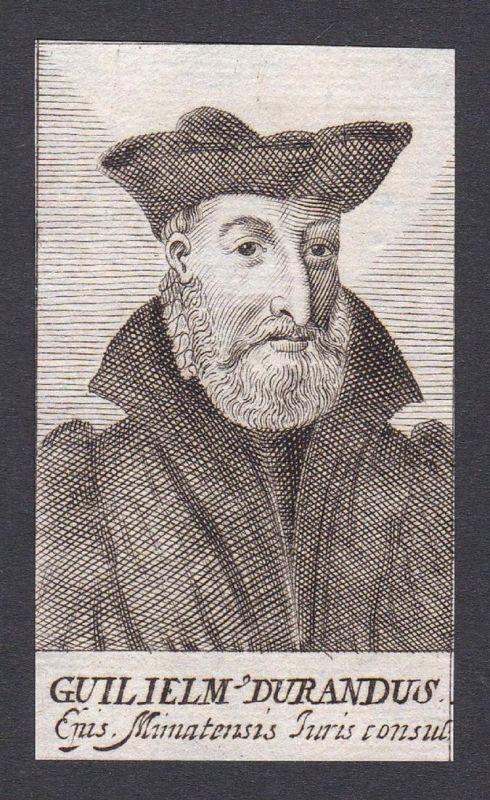 Guilielm Durandus / Guillaume Durand / canonist writer jurist Schriftsteller Jurist Bologna France