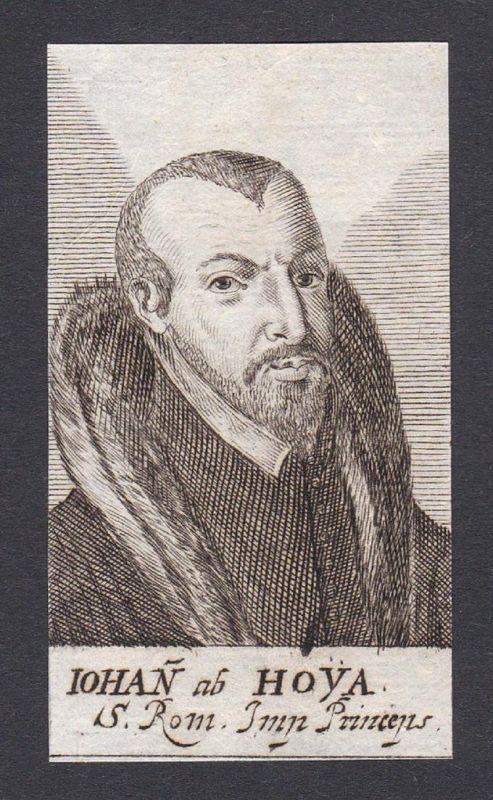 Iohan ab Hoya / Johann von Osnabrück Johann von Hoya zu Stolzenau / bishop administrator Bischof Administrator