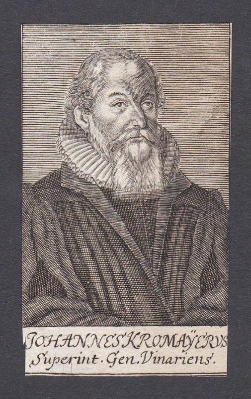 Johannes Kromayerus / Johannes Kromayer / theologian Theologe Weimar