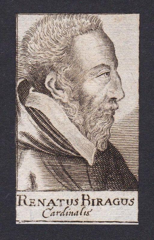 Renatus Biragus / Rene de Birague / cardinal Kardinal Paris