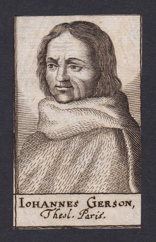 Iohannes Gerson / Jean Gerson / scholar educator reformer poet theologian Gelehrter Theologe Paris