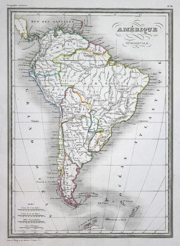 Amerique Meridionale - Amerique Amerika America map Karte carte ...