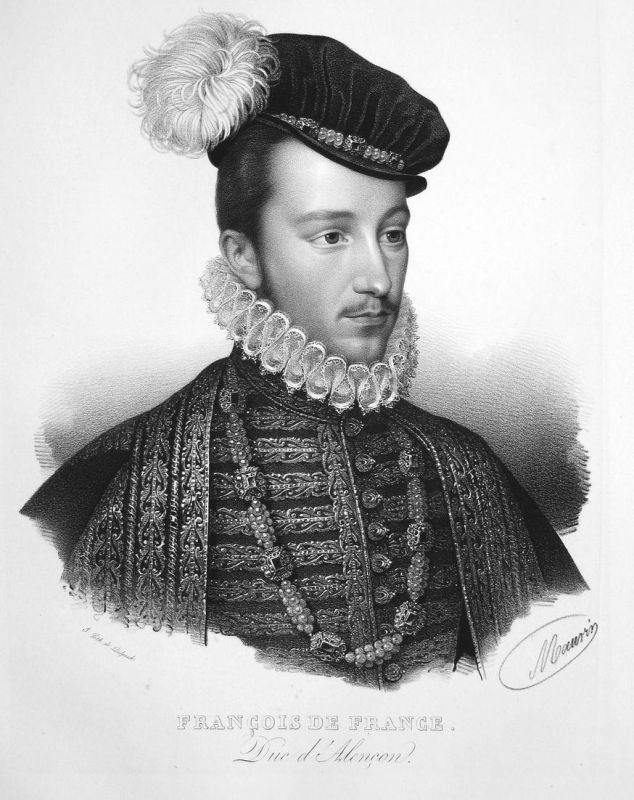 Francois de France - François-Hercule de Valois Graf comte earl paire Pair France Frankreich Lithographie Maur