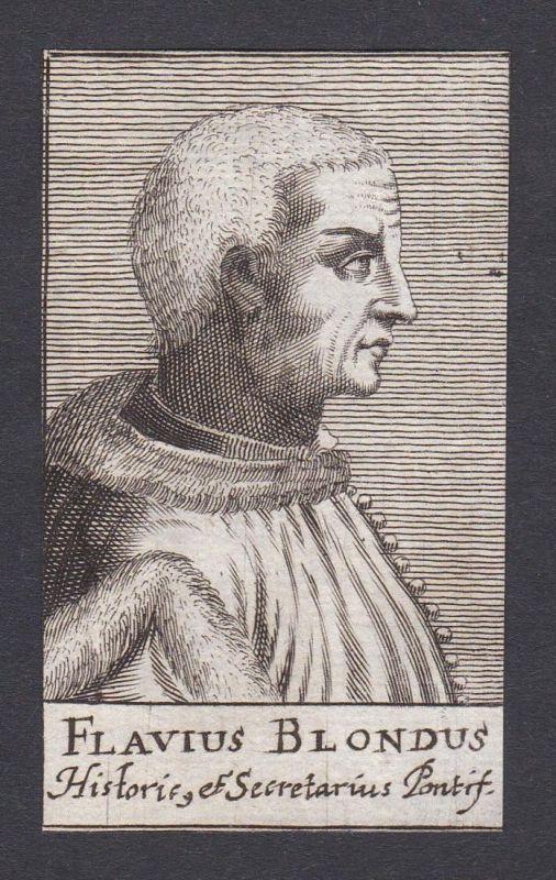 Flavius Blondus / Flabio Biondo / humanist historian Humanist Historiker Roma