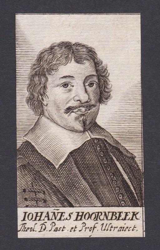 Iohanes Hoornbeek / Johannes Hoornbeek / theologian Theologe Leiden