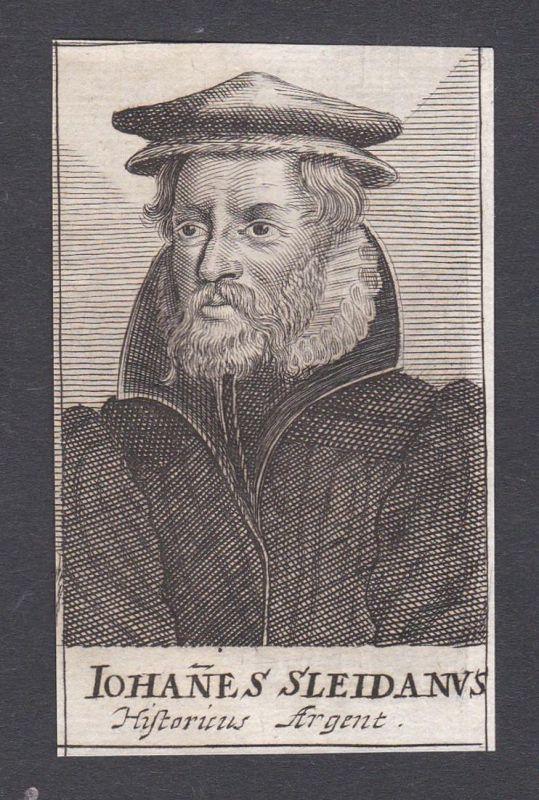 Iohannes Sleidanus / Johannes Sleidanus Johannes Sleidan / historian lawyer Jurist Diplomat Luxemburg Schleide