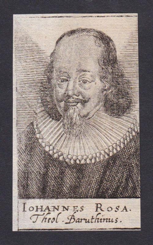 Iohannes Rosa / Johannes Rosa / theologian historian Theologe Historiker Jena