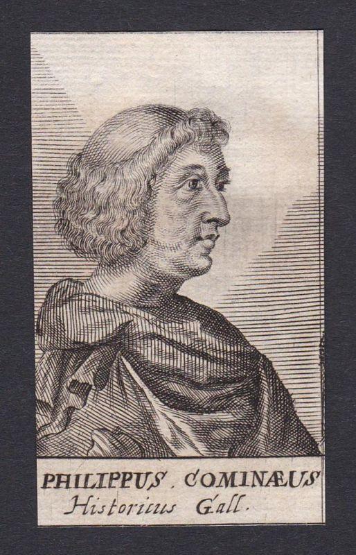 Philippus Cominaeus / Philippe de Commines / writer diplomat Histroiker Diplomat Berater Schriftsteller Flande