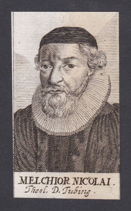 Melchior Nicolai / Melchior Nicolai / theologian Theologe Tübingen