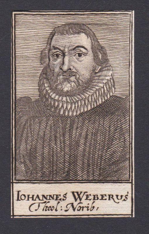 Iohannes Weberus / Johannes Weber / theologian Theologe Nürnberg
