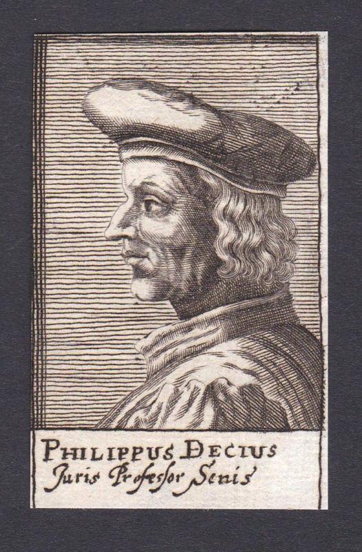 Philippus Decius / Filippo Decio / lawyer Jurist Siena