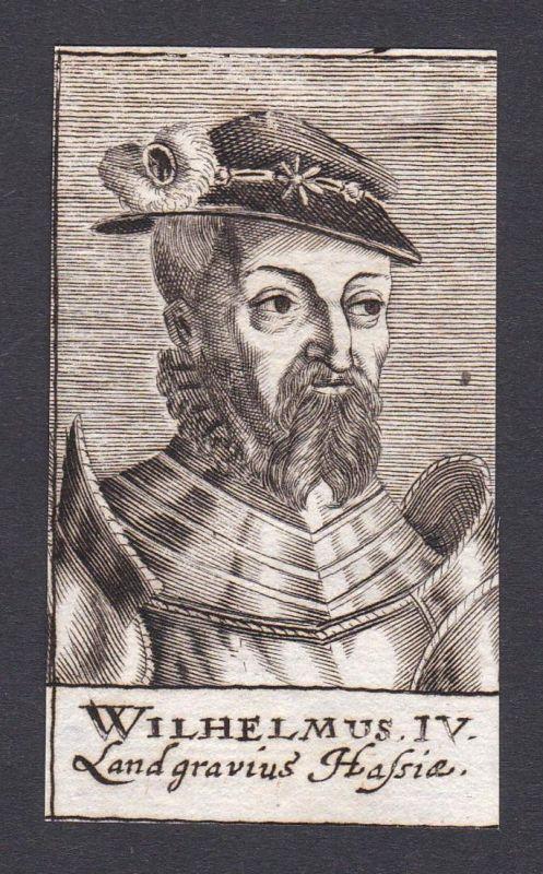 Wilhelmus IV. / Wilhelm IV. / earl Graf Hessen