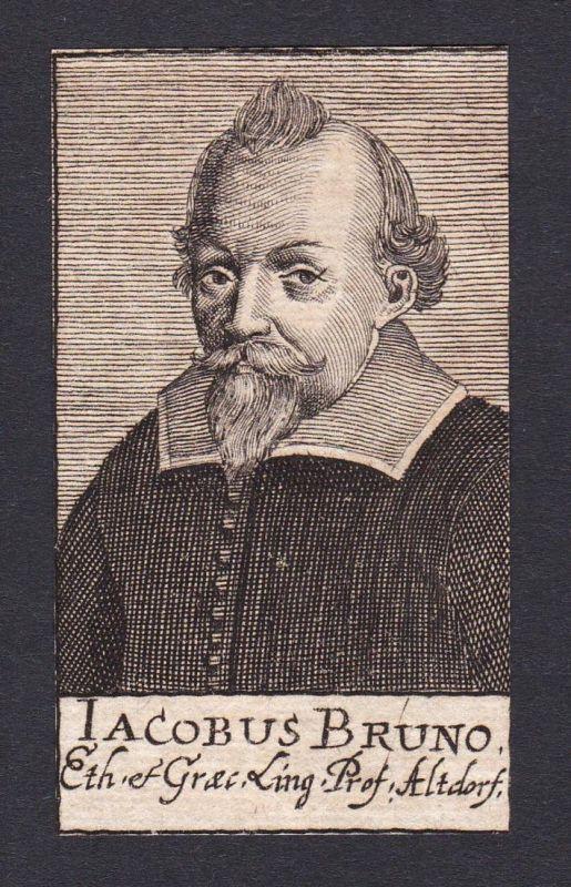 Iacobus Bruno / Jakob Bruno / philosopher Philosoph Altdorf