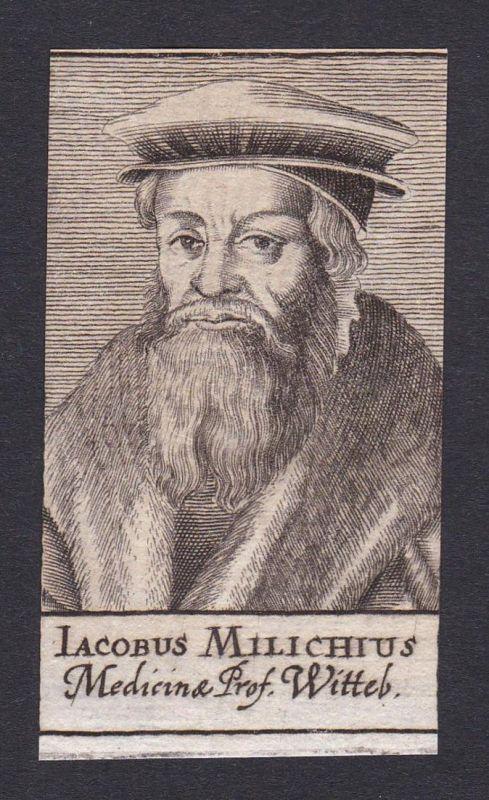 Iacobus Milichius / Jakob Milich / Mathematiker mathematician Wittenberg