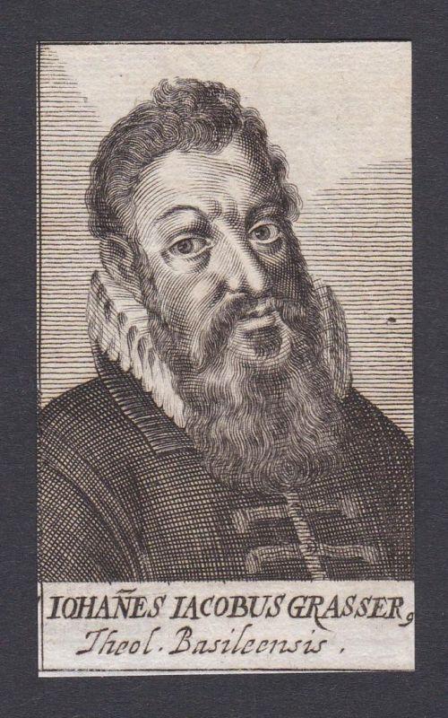 Iohanes Iacobus Grasser. / Johann Jacob Grasser / theologian Theologe Basel