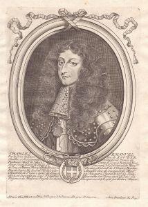 Charles Emanuel - Carlo Emanuele II di Savoia Portrait Kupferstich engraving acquaforte stampa incisione