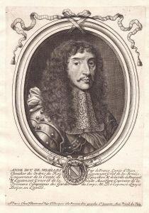 Anne duc de Noailles - Anne de Noailles gravure Portrait Kupferstich engraving
