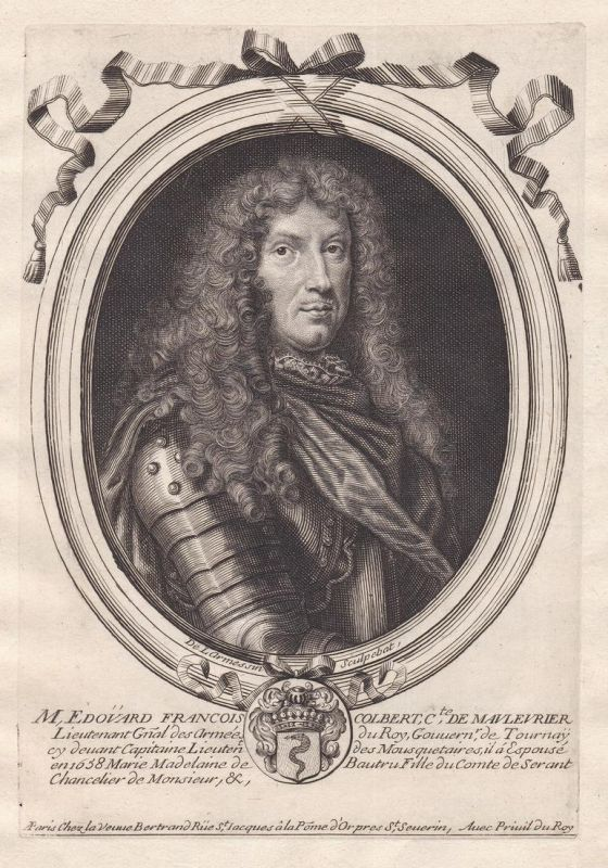 M Edovard Francois Colbert - Edouard-Francois Colbert gravure Portrait Kupferstich engraving