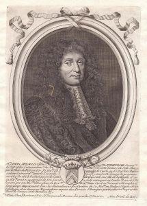 Mre Simon Arnauld - Simon Arnauld de Pomponne Portrait Kupferstich engraving gravure