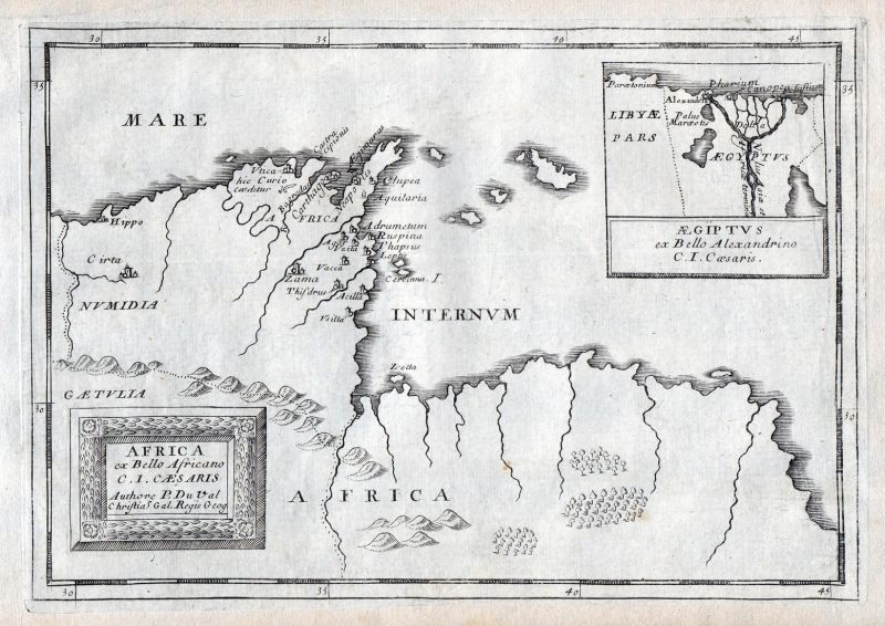 Africa - Egypt Tunisia Tunesien Africa map carte Karte Kupferstich ...