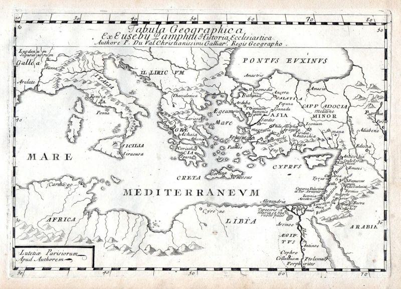 Tabula Geographica ex Ebus - Italia Sicilia Greece Turkey map carte ...