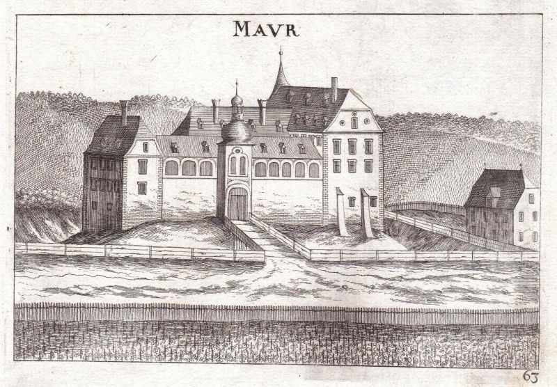 Maur - Maur Mauer Wien Schloss XXIII Kupferstich antique print Kupferstich antique print