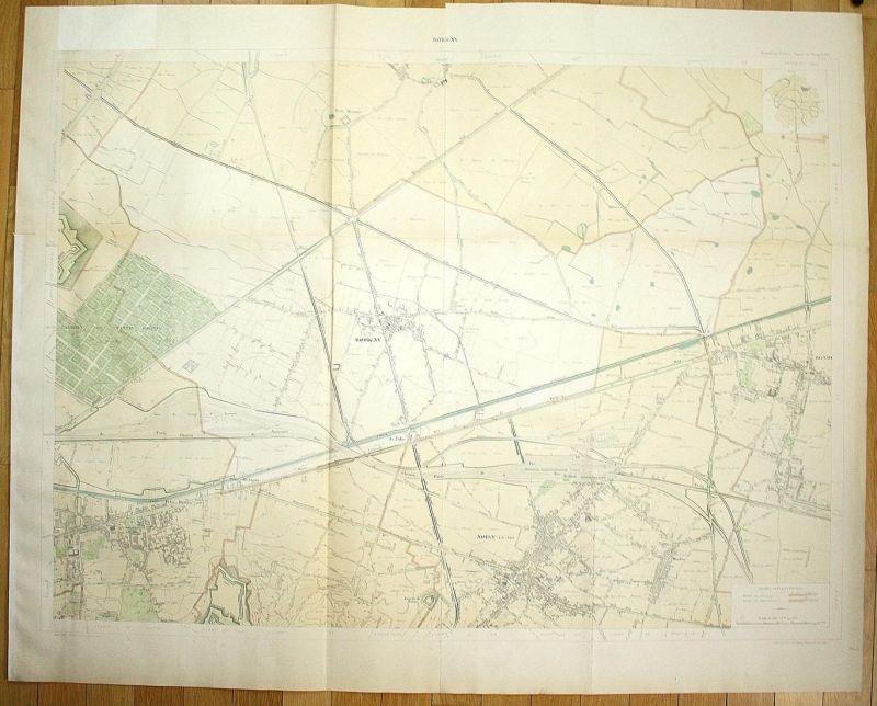Bobigny - Bobigny Pantin Merlan Bondy Noisy-le-Sec plan de la ville city map Paris
