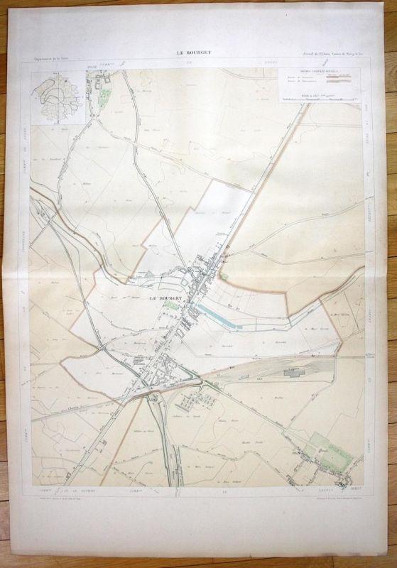 Le Bourget - Le Bourget Chemin Dugny Les Mollettes plan de la ville city map Paris